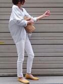 Ayaさんの「【Sweet 5月号掲載】ポインテッドトゥフラットシューズ/パンプス(titivate|ティティベイト)」を使ったコーディネート