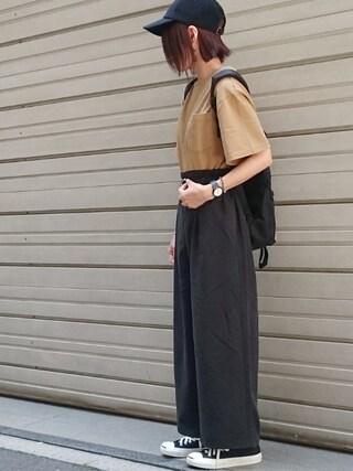 Ayaさんの「USAC180EビッグTシャツ【niko and ...】(niko and...|ニコアンド)」を使ったコーディネート