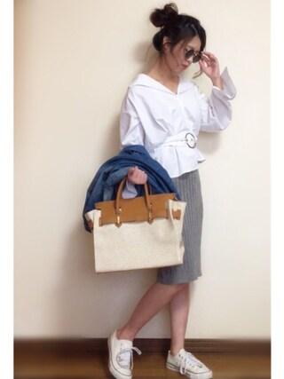 Miiさんの「フロントZIPニットスカート(EGOIST|エゴイスト)」を使ったコーディネート