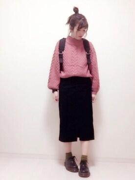 eikoさんの「スリットコーデュロイスカート2 744798(apart by lowrys|アパートバイローリーズ)」を使ったコーディネート