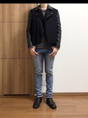 nobuさんの「PETIT NEW STANDARD/DENIM BRUT DELAVE STRETCH(A.P.C.|アー・ペー・セー)」を使ったコーディネート