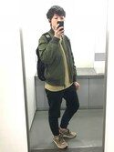Yu  Aoyamaさんの「BY ナイロン MA-1 ジャケット◆(BEAUTY&YOUTH UNITED ARROWS|フリークスストア)」を使ったコーディネート