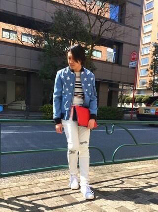 「【GUILD PRIME】MENS スターテンセルデニムブルゾン(GUILD PRIME)」 using this LOVELESS青山|hiromu looks