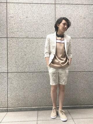 「【LOVELESS】MENS ホワイトカモフラハーフスリーブジャケット(LOVELESS MENS)」 using this LOVELESS青山|hiromu looks