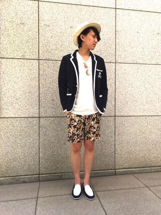 「【LOVELESS】MENS スウェードコンビスリッポンローファー(LOVELESS)」 using this LOVELESS青山|hiromu looks