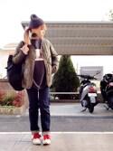 いく☆さんの「キルティングライナージャケット(TODAYFUL|トゥデイフル)」を使ったコーディネート