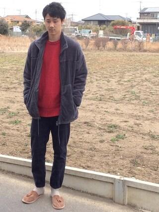 tomoさんの「WEGO/リバーシブルボアスタンドジャケット(WEGO ウィゴー)」を使ったコーディネート