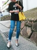 yuriさんの「【RiiiKa/リーカ】セパレートパンプス(RiiiKa リーカ)」を使ったコーディネート