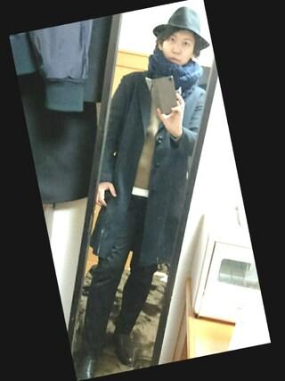 まっきーさんの「WOMEN コットンカシミヤケーブルセーター(長袖)(ユニクロ|ユニクロ)」を使ったコーディネート