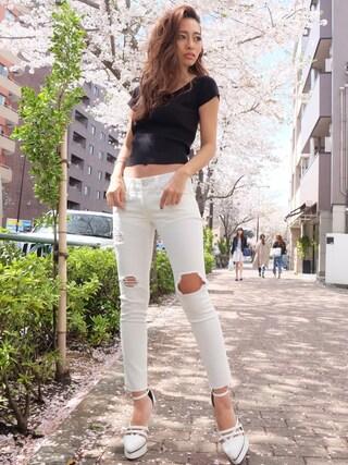 RESEXXY 渋谷109|みすさち【見須幸代】さんの「バックリボンニットトップス(RESEXXY|リゼクシー)」を使ったコーディネート