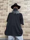 takaoさんの「ロングブリムハット/742141(RAGEBLUE|メメントイズム)」を使ったコーディネート