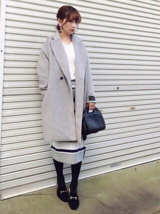 「【セットアップ対応】12Gハーフミラノタイトスカート(ikka)」 using this みやこ  looks