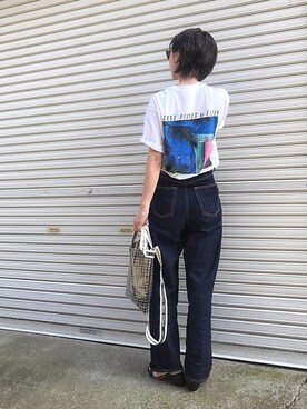 みやこ さんの「【別注】 <EIZIN SUZUKI> PRINT TEE 2 /Tシャツ(BEAUTY&YOUTH UNITED ARROWS|ビューティアンドユースユナイテッドアローズ)」を使ったコーディネート