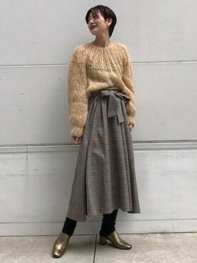 JOURNAL STANDARD 心斎橋店|S・Fさんの「【Maiami/マイアミ】Mohair Pleated Sweater:ニット #(JOURNAL STANDARD)」を使ったコーディネート