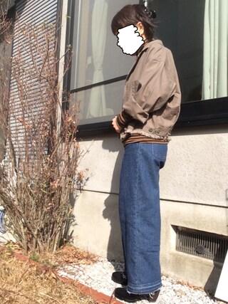 モジーさんの「ミリタリーBIGジャケット 733922(LOWRYS FARM|ローリーズ ファーム)」を使ったコーディネート