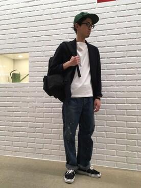 Bshop グランフロント大阪店 タナカさんのTシャツ/カットソー「半袖ボートネックTシャツ  SOLID WOMEN(ORCIVAL オーシバル)」を使ったコーディネート