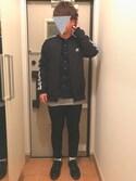 Keisukeさんの「MEN ストレッチスキニーフィットカラージーンズ(ユニクロ|ユニクロ)」を使ったコーディネート