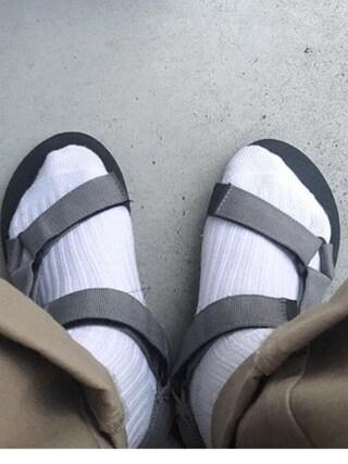 nookさんの「【靴下屋】ガーゼ調リブショートソックス(靴下屋|クツシタヤ)」を使ったコーディネート