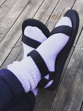 nookさんの「【靴下屋】◆ホワイト◆リブベタソックス(靴下屋|クツシタヤ)」を使ったコーディネート