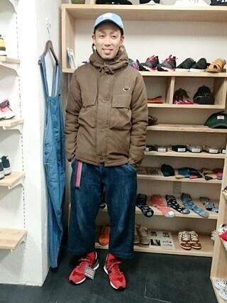 OWL yusuke さんの「ビックポケット 中綿 パーカージャケット (ユニセックス)(STORES.jp ストアーズドットジェーピー)」を使ったコーディネート