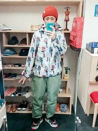 OWL|yusuke さんの「go slow caravan ゴースローキャラバン クライマー 総柄パーカージャケット(go slow caravan|ゴースローキャラバン)」を使ったコーディネート