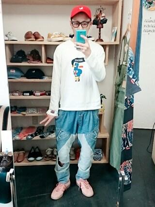 OWL|yusuke さんの「adidas originals Hamburg PINK (メンズ)(adidas originals|アディダスオリジナルス)」を使ったコーディネート