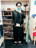 yusuke さんの「コットンリネン ワイドパンツ (ユニセックス)(STORES.jp|ストアーズドットジェーピー)」を使ったコーディネート