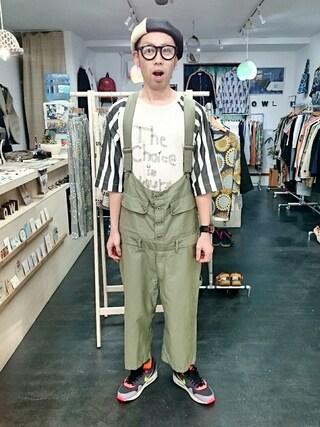 OWL|yusuke さんの「masterkey マスターキー 「T.C.I.Y」ラグランT (ユニセックス)(masterkey|マスターキー)」を使ったコーディネート