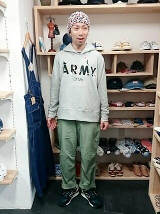 OWL|yusuke さんの「miraco ミラコ 「ARMY Of Me」パーカー ねこ刺繍 (ユニセックス)(miraco|ミラコ)」を使ったコーディネート
