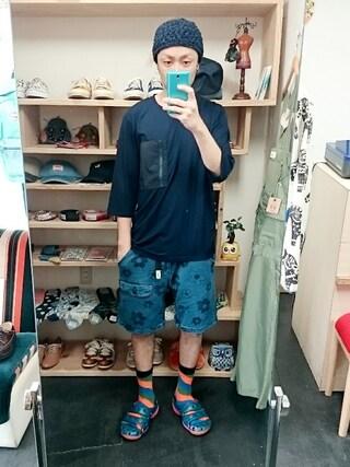 OWL|yusuke さんの「LiSS リス ポケッタブル 7分袖TEE (ユニセックス)(LiSS|リス)」を使ったコーディネート