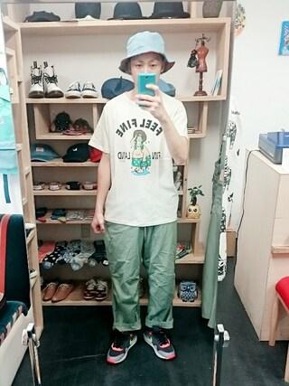 OWL|yusuke さんの「go slow caravan ゴースローキャラバン  FEELFINE カノコTEE (メンズ、レディースサイズ有り)(go slow caravan|ゴースローキャラバン)」を使ったコーディネート