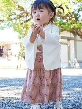 Sweet Mommy|sweet mommyさんの「ダマスク柄袴風カバーオール【女の子用】(Sweet Mommy)」を使ったコーディネート