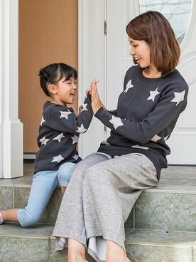 Sweet Mommy|sweet mommyさんの「ジャガード編み 星柄ニット(Sweet Mommy)」を使ったコーディネート