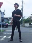 かずなりさんの「オープンカラーシャツ(半袖)(ユニクロ|ジーユー)」を使ったコーディネート