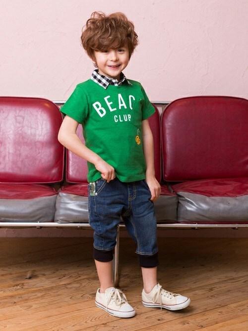 F.O.OnlineStoreさんの「FOスマイルサマーポケットTシャツ(BREEZE)」を使ったコーディネート