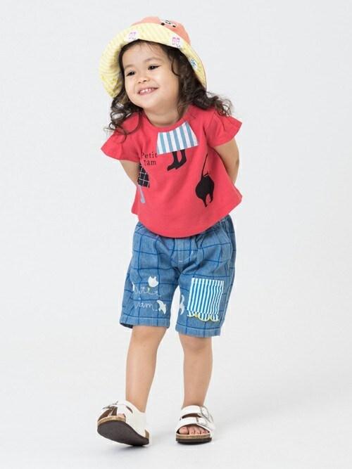F.O.OnlineStoreさんの「2柄モチーフAラインTシャツ(Petit jam)」を使ったコーディネート