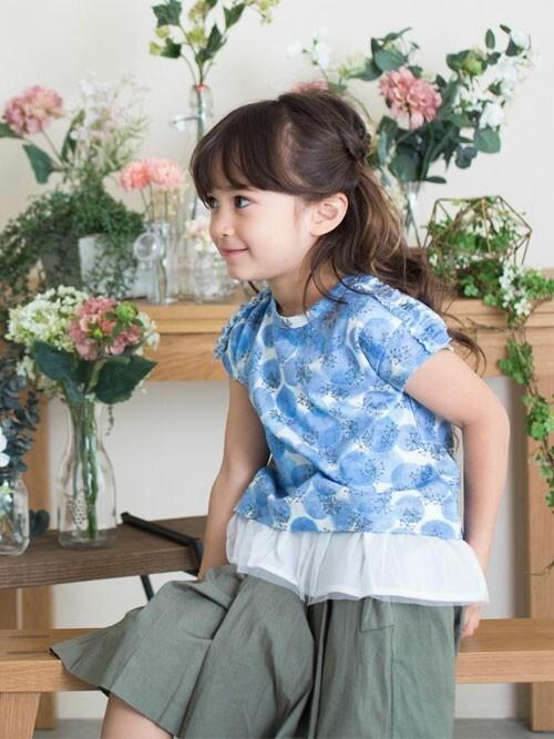 F.O.OnlineStoreさんの「花水彩ドット&トリチェック2テキスタイルチュニック(apres les cours)」を使ったコーディネート