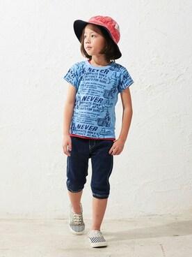 F.O.Online Store|F.O.OnlineStoreさんの「4色4柄Tシャツ(F.O.KIDS|エフオーキッズ)」を使ったコーディネート