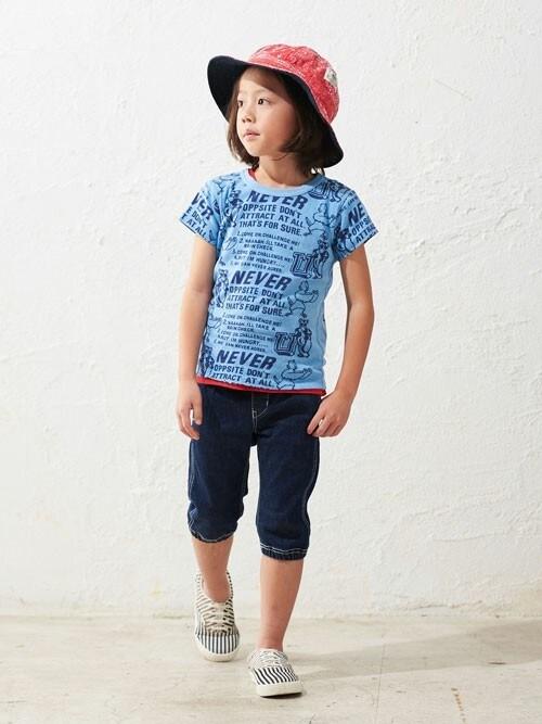 F.O.OnlineStoreさんの「4色4柄Tシャツ(F.O.KIDS)」を使ったコーディネート