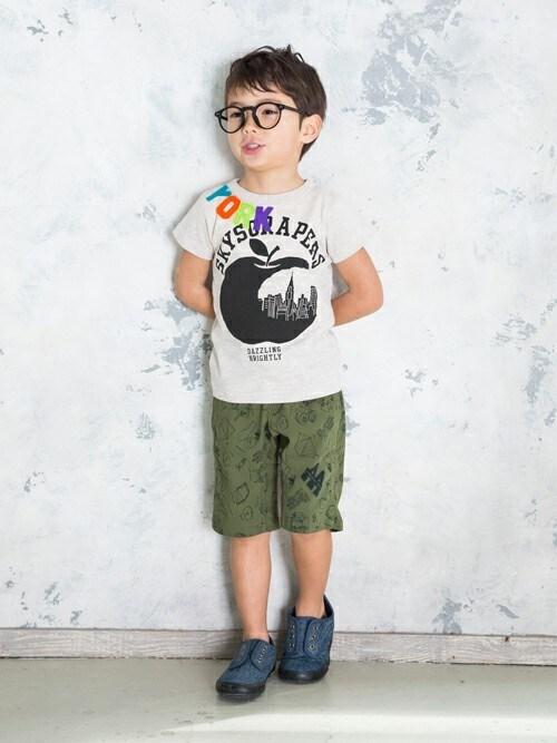 F.O.OnlineStoreさんの「アップルシティ半袖Tシャツ(BREEZE)」を使ったコーディネート