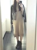 yuuuukaさんの「フェイクレザーダブルライダースジャケット(EGOIST)」を使ったコーディネート