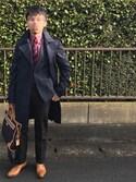 こまっ子さんの「EDGE DYE RANGE BRIEF CASE / 833374 T741N(Paul Smith ポール・スミス)」を使ったコーディネート