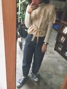 はるだ〜 ��新しい服下ろす時ってうれしい。そして新しい服下ろすときって絶対に汚してしまう。だからお休みの日に着ることにしよう  デニムは神田で購入したもの standart at hand   神田のショパンっていう喫茶店にいったんだけど 小倉トーストがめちゃくちゃ美味しかった��