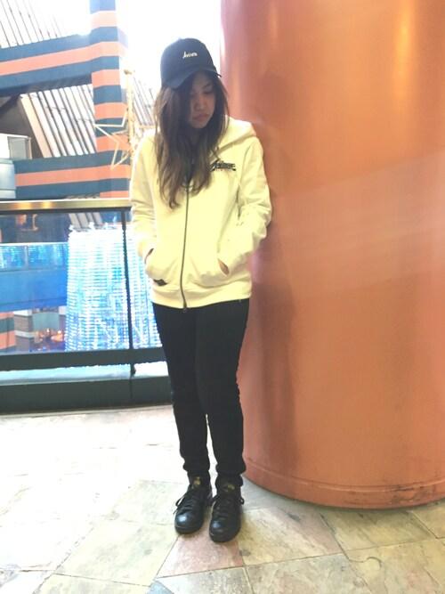 AVIREX  福岡akaneさんのパーカー「avirex/アヴィレックス/ L/S COOLMAX FLAG PARKA/ 長袖 クールマックス フラッグパーカー(AVIREX|アヴィレックス)」を使ったコーディネート