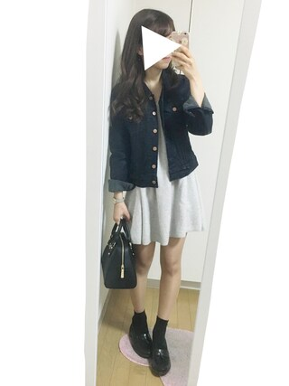 nana♡さんの「オーセンティックトラッカージャケット/12oz(Levi's|リーバイス)」を使ったコーディネート