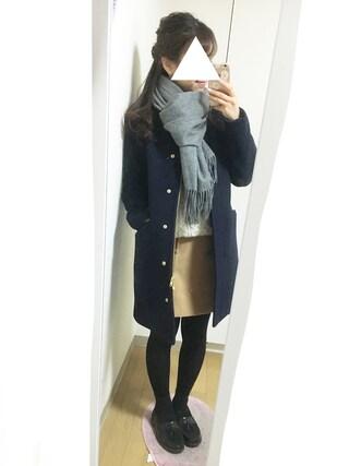nana♡さんの「フェイクウール台形スカート(ROPE' PICNIC|ロペピクニック)」を使ったコーディネート