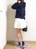 nana♡さんの「【靴下屋】コットンブレンド無地ショートソックス(Tabio タビオ)」を使ったコーディネート