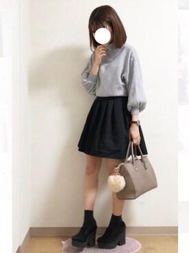 nana♡さんの「N.Vogue(エヌヴォーグ)バルーン袖ニット(N.VOUGE)」を使ったコーディネート