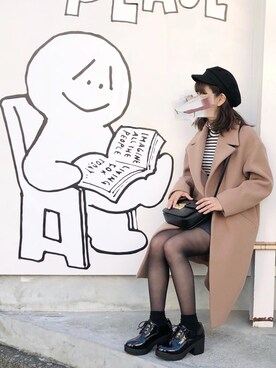 nana♡さんの「メルトンキャスケット(ROPE' PICNIC)」を使ったコーディネート