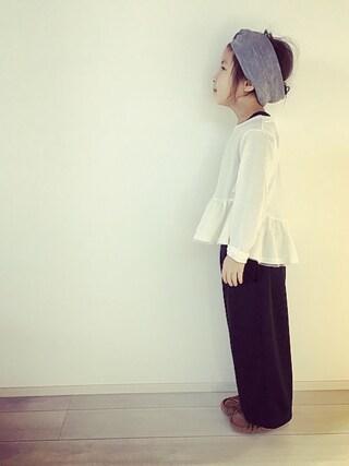 kinaさんの「裾ぺプラム長袖ベーシックTシャツ(b-room|ビールーム)」を使ったコーディネート